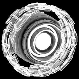 Rocket Forge II: Holographic   Titanium White