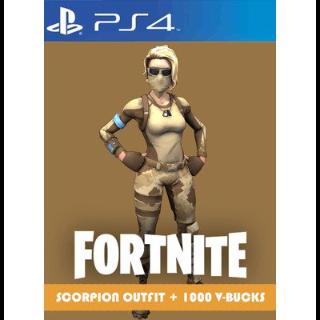 Scorpion Outfit+1000 V-BUCKS