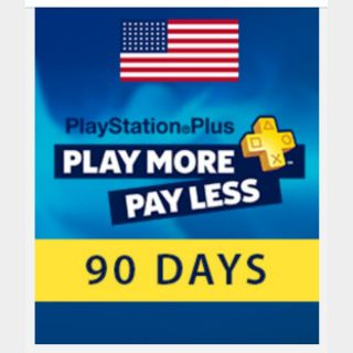 PlayStation Plus 90 days (3 months) USA