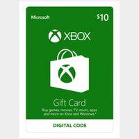 $10.00 Xbox Gift Card USA