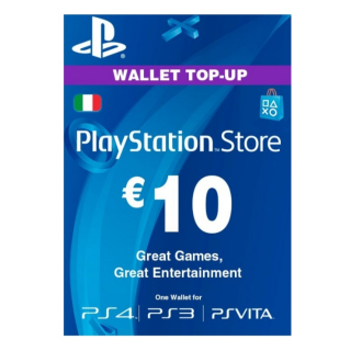 €10.00 PlayStation Store (Italy)