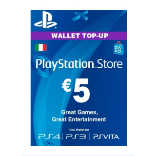 €5.00 PlayStation Store (Italy)