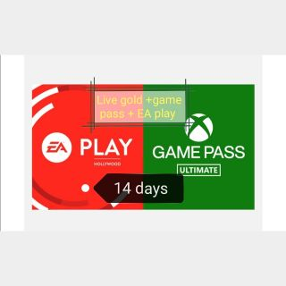 Xbox Game Pass Ultimate 14 Days (gold+pass+ EA play) )