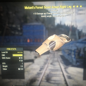 Apparel | Mutants Forest Scout Armor Right Leg