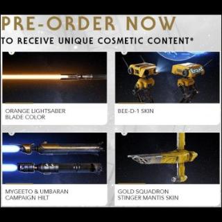 Star Wars: Jedi Fallen Order Pre-order bonuses