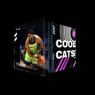 KARL-ANTHONY TOWNS 3 Pointer Cool Cats (Series 2) Common #4392/14214