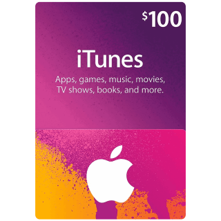 $100.00 USD iTunes INSTANT DELIVERY