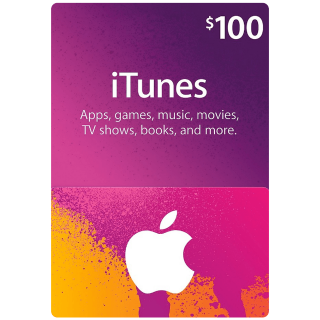 $100.00 iTunes INSTANT DELIVERY