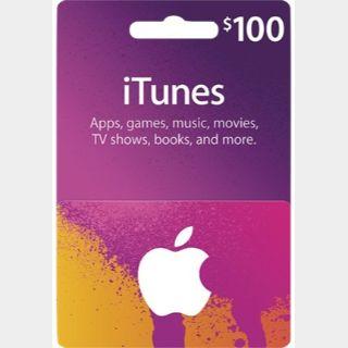 100.00 USD iTunes