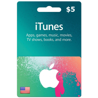 5$ iTunes gift code US (auto delivery)