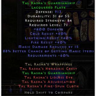 Sets   Tal Rasha Armor