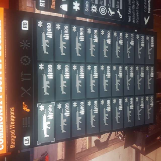 Weapons   100 Modded Guns 999 Ammo