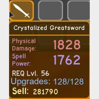 Weapon | Crystalized Greatsword