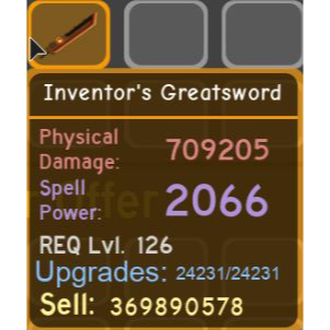 Gear   Inventors Greatsword