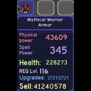 Gear   Mythical Warrior Armor