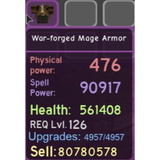 Gear   War-forged Mage Armor