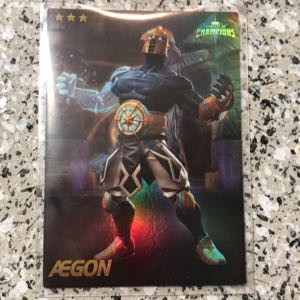 Marvel COC Aegon SHINY Collectible Card