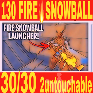 Bundle | 130🔥FIRE🔥 SNOWBALL LAUNCHER🔥RARE🔥