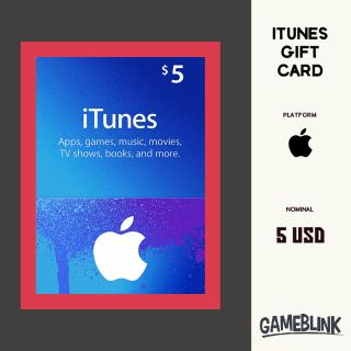 $5.00 iTunes Gift Card US