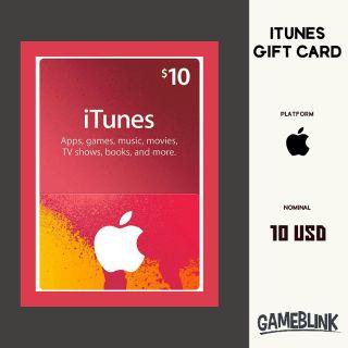 $10.00 iTunes Gift Card   iTunes 10 USD