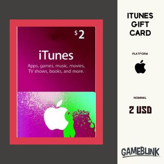$2.00 iTunes Gift Card US INSTANT DELIVERY