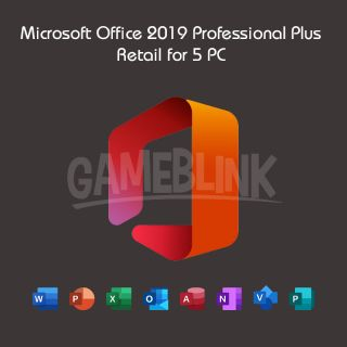 Microsoft Office 2019 Professional Plus Retail for 5 PC