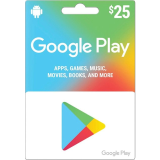 $25 Google Play Gift Card (USA) - Instant Delivery