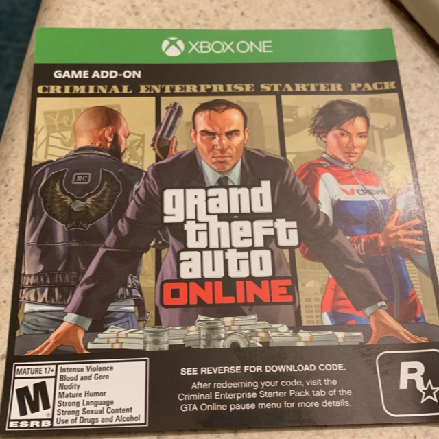 Grand Theft Auto 5 Criminal Enterprise Starter Pack - XBox