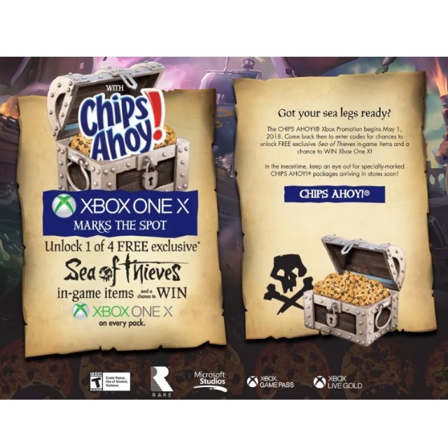 4 Sea of Thieves In-Game Exclusive Codes items - XBox 360