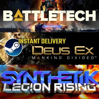 [INSTANT] Sci-Fi Bundle: Battletech, Deus Ex: Mankind Divided, Synthetik Legion Rising