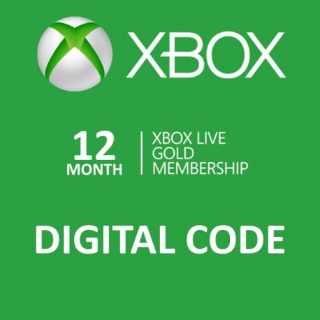 12 Month Xbox Live Gold Membership (Xbox One/360) (Instant Delivery)