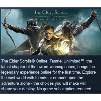 The Elder Scrolls Online: Tamriel Unlimited|PC Steam Key