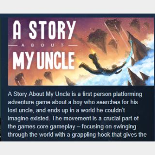 A Story About My Uncle |PC Steam Key|Instant & Automatic Delivery