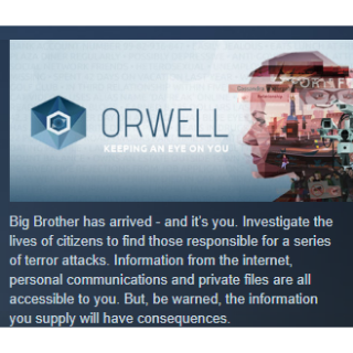 Orwell: Keeping an Eye on You|PC Steam Key|Instant & Automatic Delivery