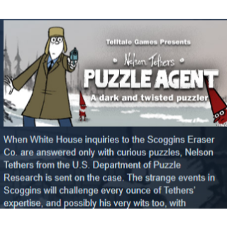 Puzzle Agent+Puzzle Agent 2|PC Steam Key|Instant & Automatic Delivery