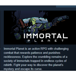 Immortal Planet PC Steam Key Instant & Automatic Delivery