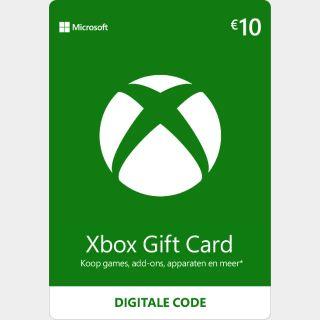 €10.00 Xbox Gift Card