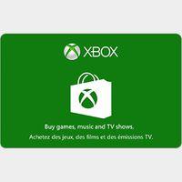 $15.00 CAD Xbox Gift Card x4