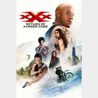 xXx: Return of Xander Cage UHD 4K VUDU