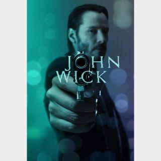 John Wick VUDU OR ITUNES HD