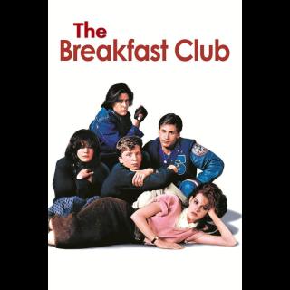 The Breakfast Club VUDU OR ITUNES HD