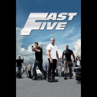 Fast Five vudu hdx MA HD