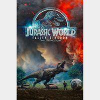 Jurassic World: Fallen Kingdom UHD 4K MOVIES ANYWHERE VUDU OR ITUNES