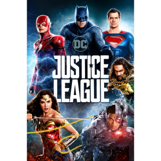 Justice League VUDU HDX MOVIES ANYWHERE HD