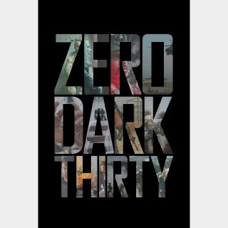 Zero Dark Thirty VUDU HDX ITUNES HD MA
