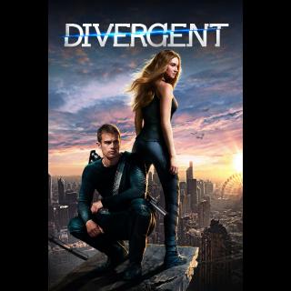 Divergent VUDU HDX ACTUAL CODE ITUNES HD