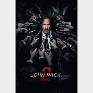 John Wick: Chapter 2 VUDU or iTUNES HDX