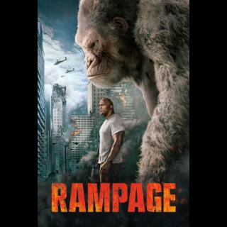Rampage VUDU HDX MOVIES ANYWHERE