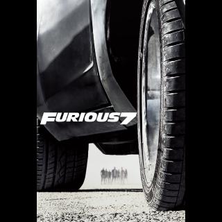 Furious 7 Extended Edition HD MA VUDU HDX