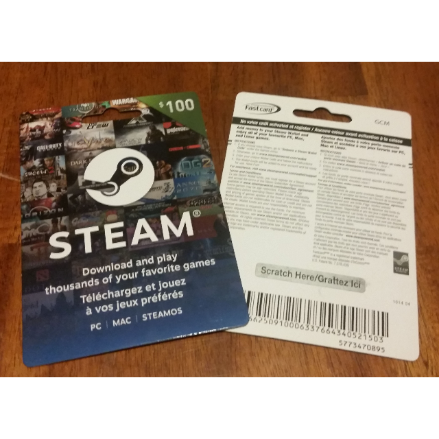 $100 Steam Card Canadian